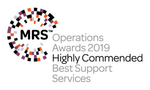 MRS Operations Awards Highly Commended Best Support Services 2019